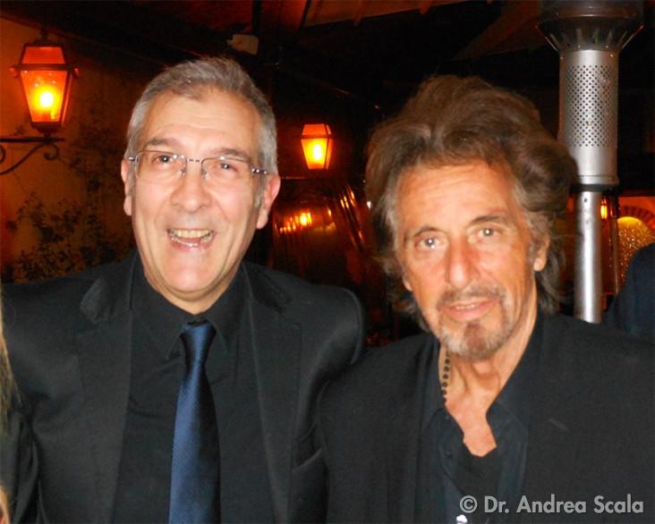 il Dott. Andrea Scala con Al Pacino