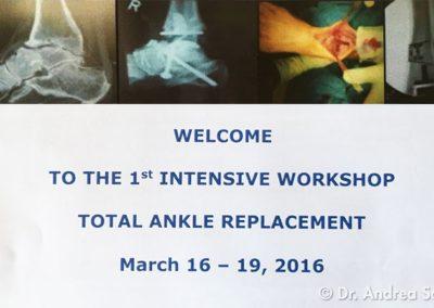 Corso Internazionale di Istruzione sulla Protesi della Caviglia