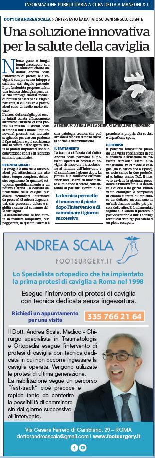 Articolo pubblicato su Repubblica Dott. Scala