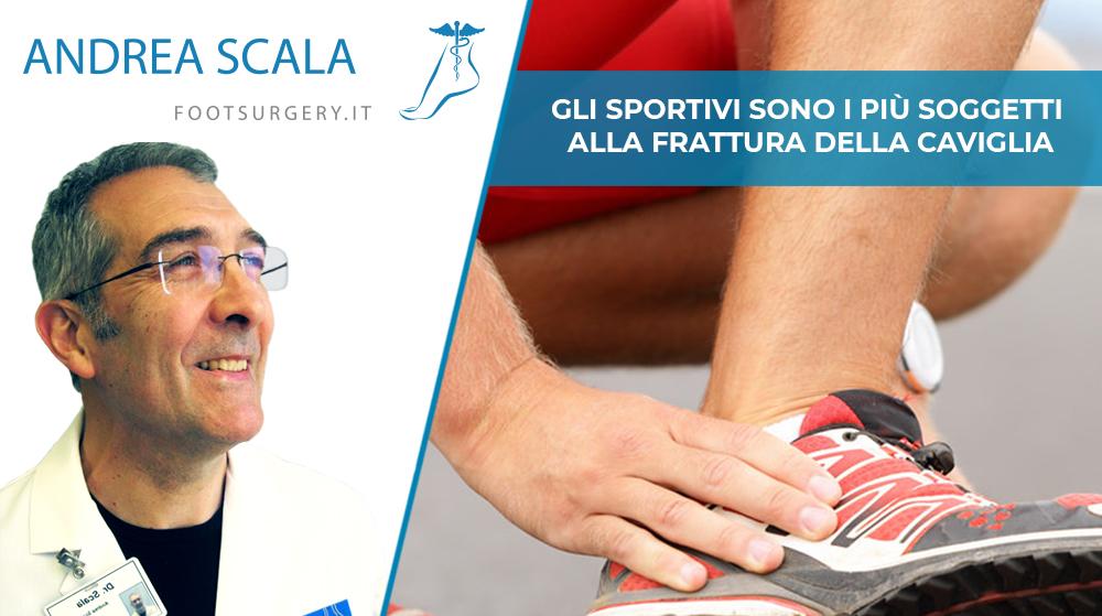 Gli sportivi sono i più soggetti alla frattura della caviglia
