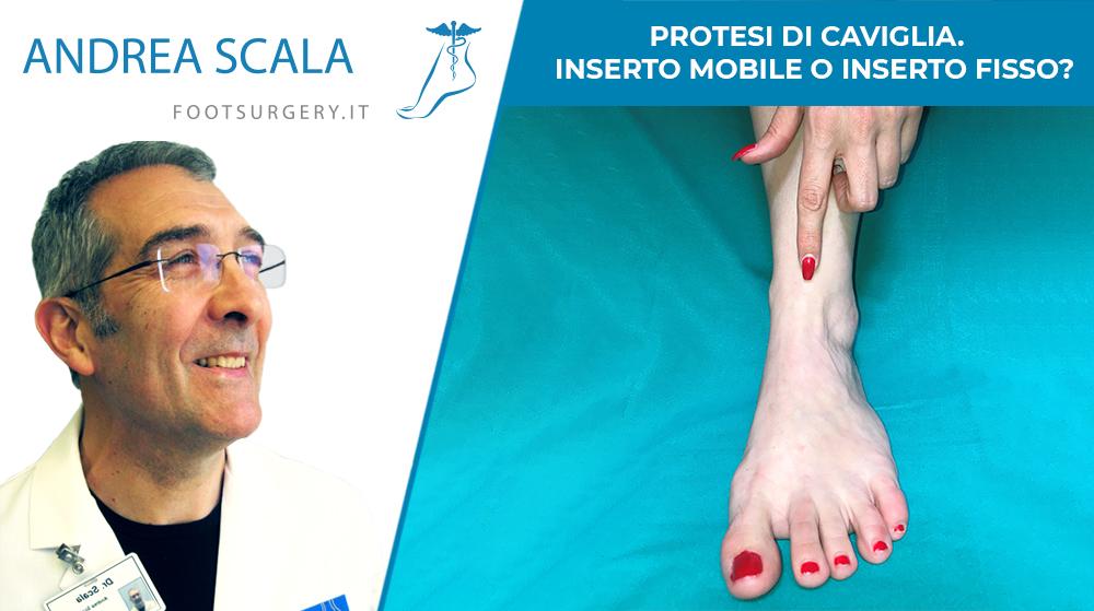 protesi di caviglia inserto