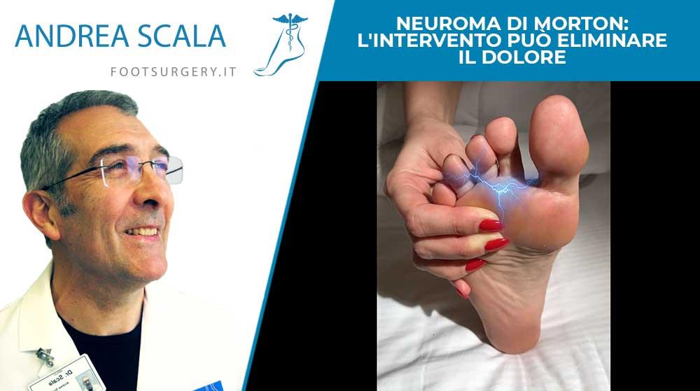 Neuroma di Morton: l'intervento può eliminare il dolore