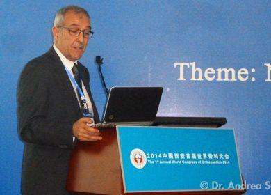 Il dott. Scala in Cina al 1° Congresso Mondiale di Ortopedia